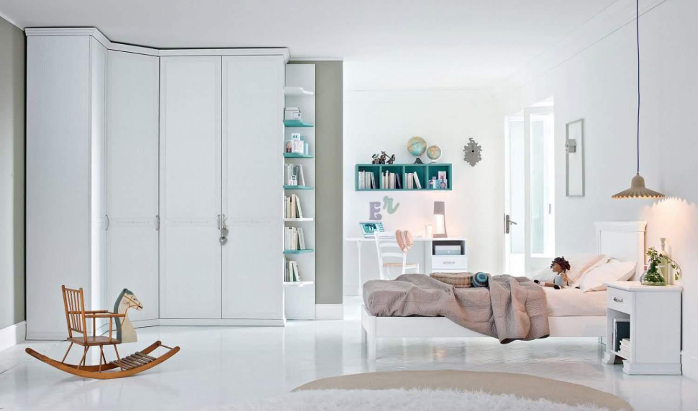 Arcadia camerette armadio angolo con libreria pignoloni for Pignoloni arredamenti