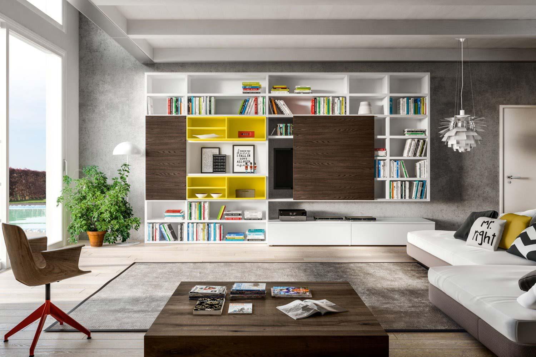 Libreria soggiorno 598 pignoloni for Pignoloni arredamenti