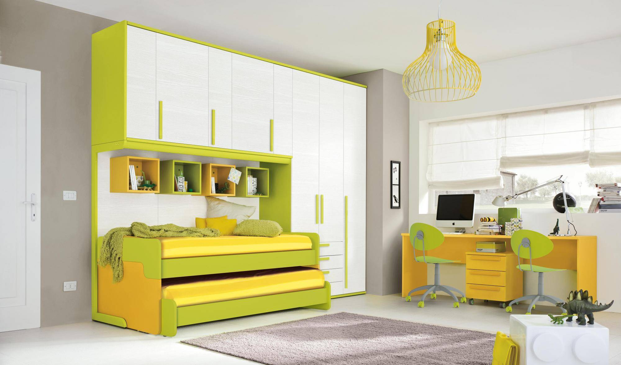 Camerette Doppio Ponte Colombini : Golf camerette ponte doppio letto giallo pignoloni arreda
