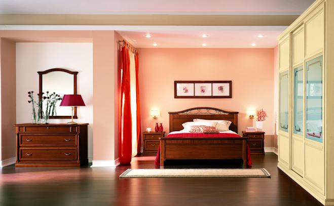 Camera pitti con letto orchidea e gruppo opera pignoloni for Pignoloni arredamenti