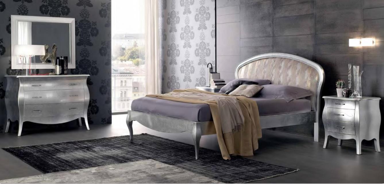 Camera da letto foglia argento vogue pignoloni for Pignoloni arredamenti