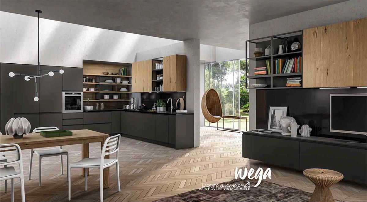 Arredo3 cucina wega perfetta integrazione tra cucina e for Cucina living