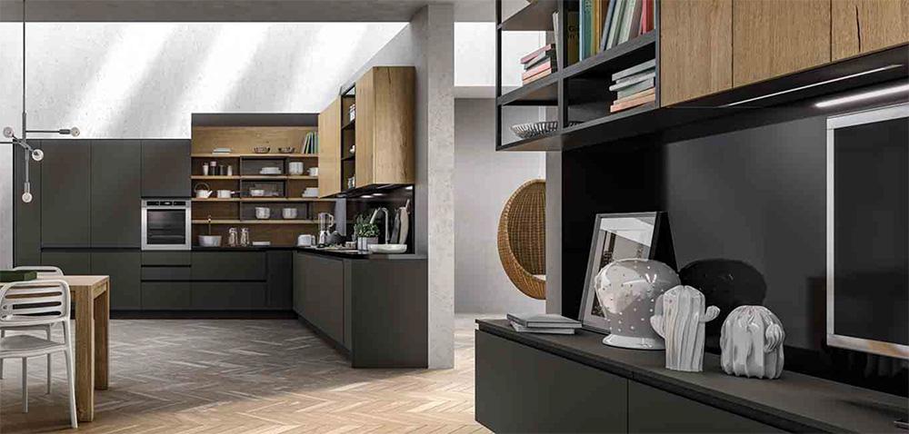 Arredo3, cucina Wega perfetta integrazione tra cucina e Living ...
