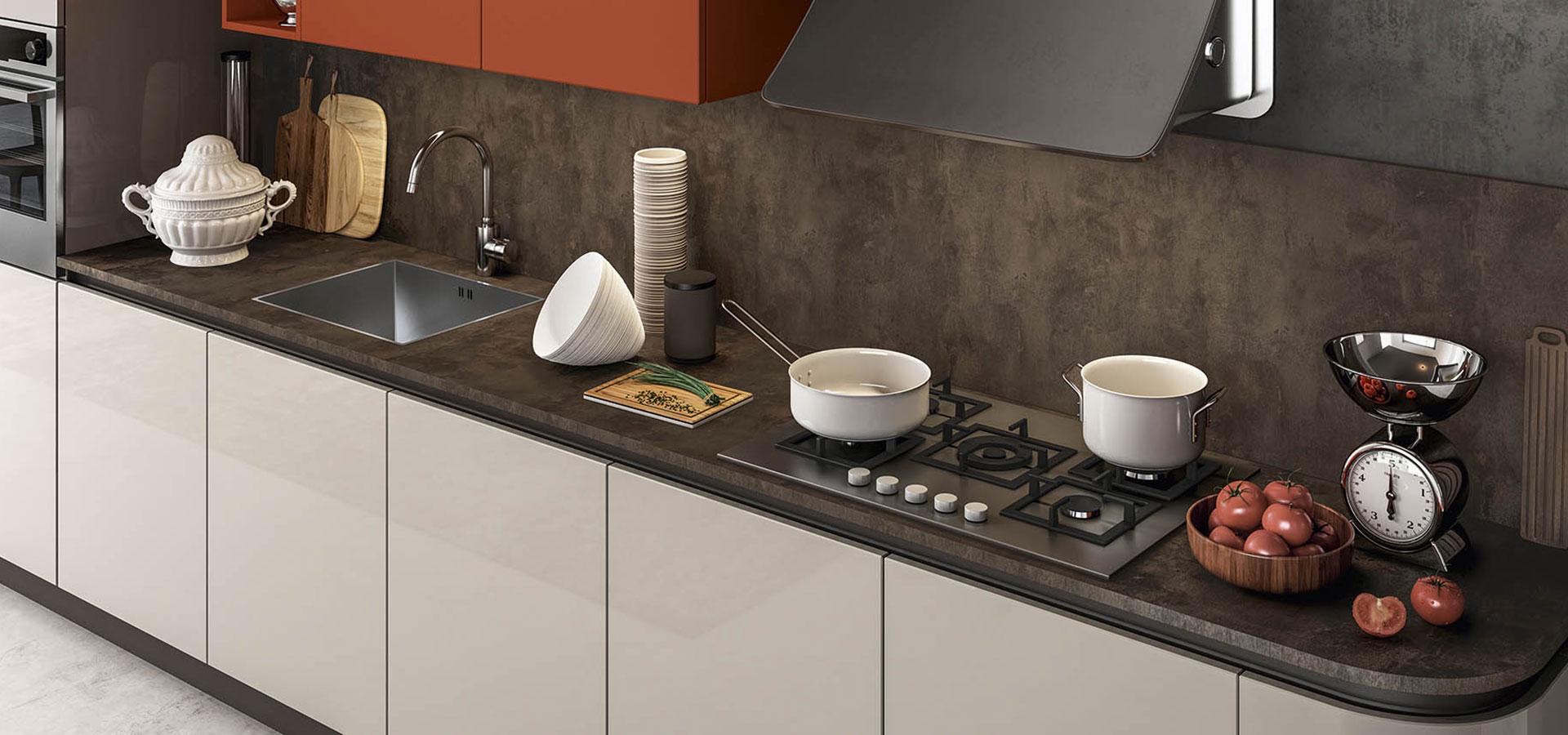 Top cucine materiali piano e ante with top cucine - Materiali top cucina ...
