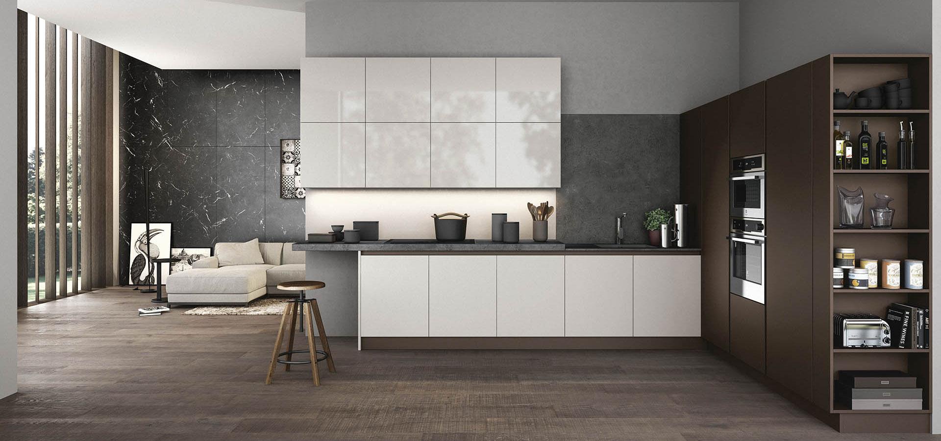 Arredo3 cucina time nuove finiture e materiali for Cucina arreda